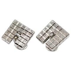 Chopard Ice Cube 18 Karat White Gold Earrings with Diamonds