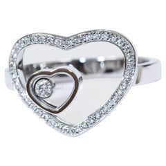 Chopard 18 Karat White Gold Happy Hearts Diamonds Ring