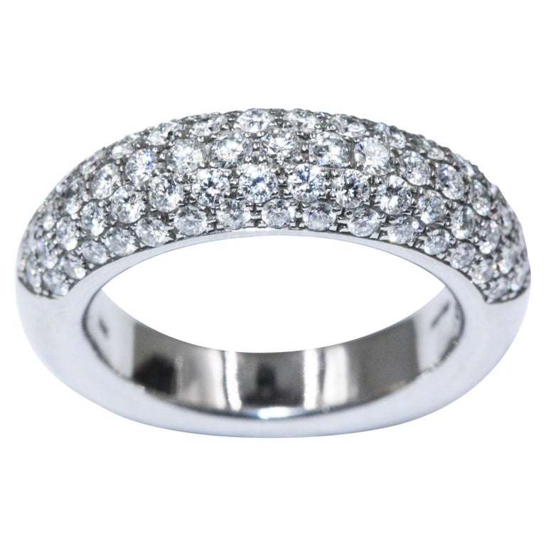 Chopard White Gold Diamonds Ring For Sale