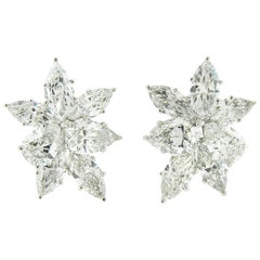 GIA Certified 16.63 Carat Diamond Cluster Earrings