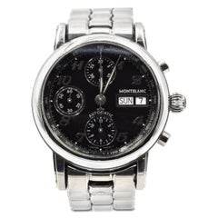 Mont Blanc Automatic Chronograph Meisterstuck Stainless Steel Watch Ref 4810/501