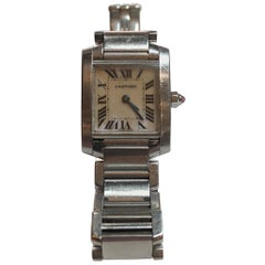 Ladies Cartier Tank Francaise Watch with Pink Mother-of-Pearl Dial