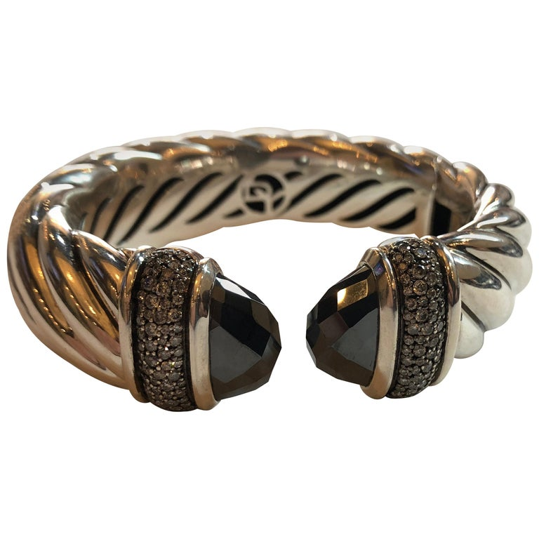 David Yurman Waverly Bracelet Cuff 1 19 Carat Diamond With Hemae For