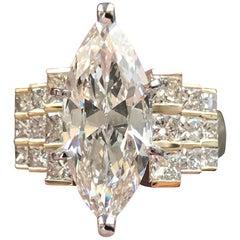 5.2 Carat TW Marquise Diamond Engagement Ring 14 Karat Y