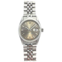 Rolex Stainless Steel Grey Wide Boy Datejust Watch, 1970s