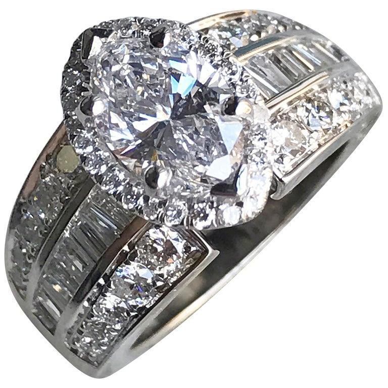 1.25 Carat Marquise Diamond Engagement Ring 14 Karat White Gold