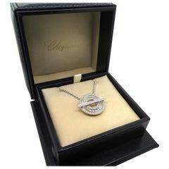 Chopard Happy Diamond White Gold Circle Necklace