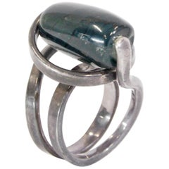 Scandinavian Modernist Ring by Erling Christoffersen for Plus, 1960s