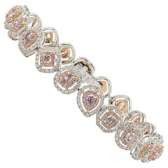 Fancy Pink Diamond Bracelet, 6.89 Carat