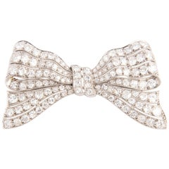 Belle Époque Platinum and Diamond Bow Hair Clip
