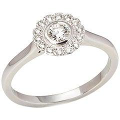 Tiffany & Co. Platinum Diamond Flower Enchant Ring