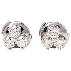 Tiffany & Co. Platinum Diamond Aria Stud Earrings