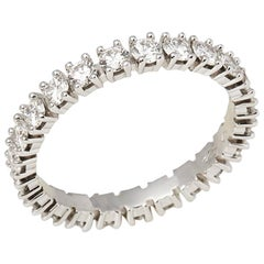 Cartier Platinum 1.56 Carat Full Diamond Destinée Eternity Ring