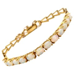Opal 18 Karat Yellow Gold Bracelet