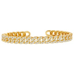 Diamond Bangle 18 Karat Yellow 1.50 Carat