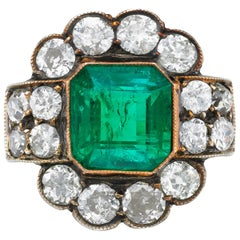 Emerald and Diamond Ring with an AGL Report
