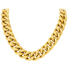 Contemporary 18 Karat Gold Link Necklace