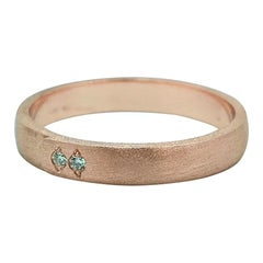 Luca Jouel Diamond Petite Buckle Ring in 14 Carat Rose Gold