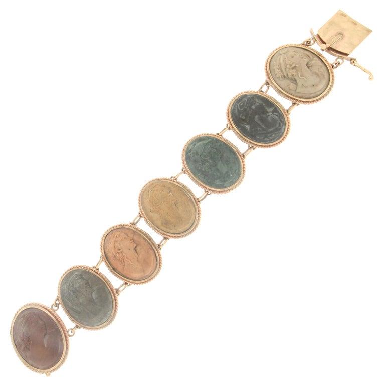 Lava 14 karat Yellow Gold Cuff Bracelet