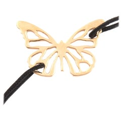 F. Larochas Gold Butterfly Bracelet
