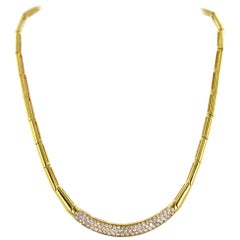 H. Stern Pave Diamond 18 Karat Yellow Gold Link Necklace
