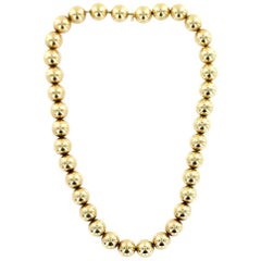 1960s Tiffany & Co. Vintage 14 Karat Yellow Gold Ball Necklace
