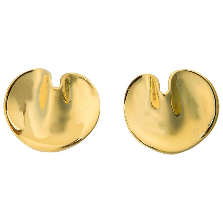 Tiffany & Co. Angela Cummings Gold Lily Pad Earrings