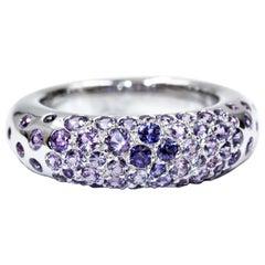 Chaumet 18 Karat White Gold Sapphire Ring S2.00 Carat