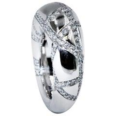 Chaumet 18 Karat White Gold Diamond Ring