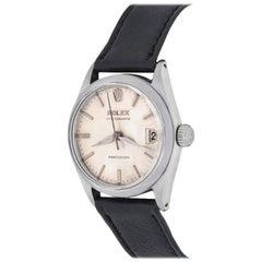 Rolex Stainless Steel Oyster Date Manual Wind Midsize Wristwatch Ref 6466