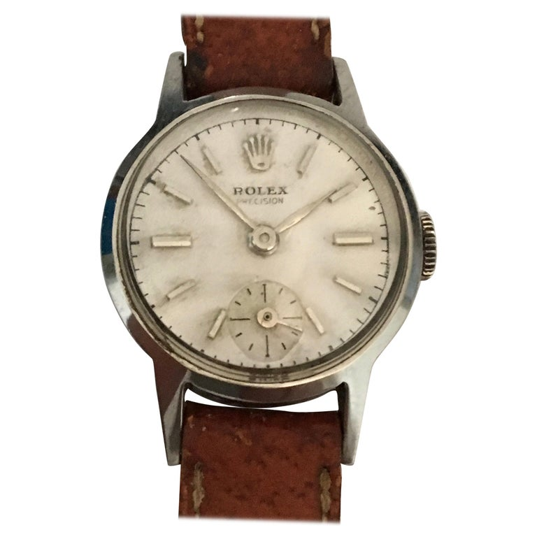 Rolex Ladies Precision Stainless Steel Watch, circa 1940s