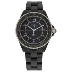 Certified Chanel J12 H2012 with Band, Ceramic Bezel and Black Dial
