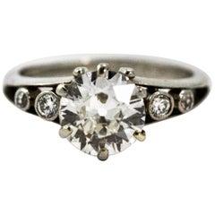 Art Deco 1.86 Carat Platinum Engagement Ring