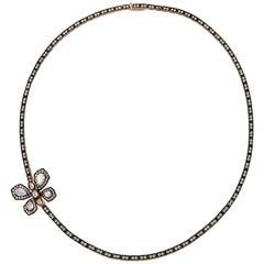 18 Karat Gold Monan Butterfly 3.89 Carat Diamond Necklace