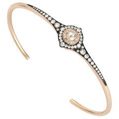 18 Karat Gold Monan 0.58 Carat Diamond Bracelet or Bangle