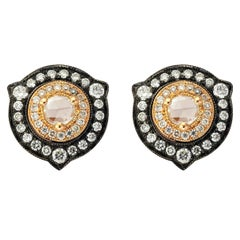 18 Karat Gold Monan 0.59 Carat Diamond Earrings