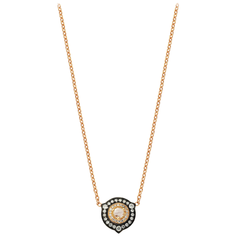 18 Karat Gold Monan 0.31 Carat Diamond Necklace