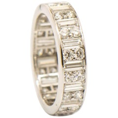Cartier 3.15 Carat Total Weight Diamond Platinum Eternity Band
