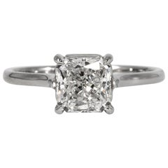Radiant Diamond Engagement Ring 1.90 Carat Centre, GIA G SI1 in 18 Karat Gold