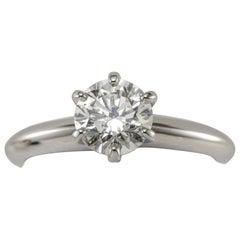 Tiffany & Co. 1.02 Carat Diamond Platinum Ring