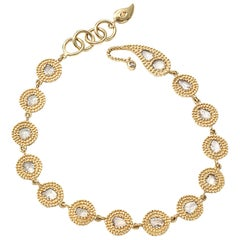 Coomi 20 Karat Gold Eternity Diamond Bracelet