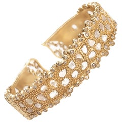 Coomi 20 Karat Gold Luminosity Diamond Cuff Bracelet