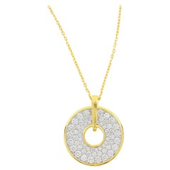 "Frederic Sage 1.35 Carat Diamond Large ""Spinning Disc"" Pendant"