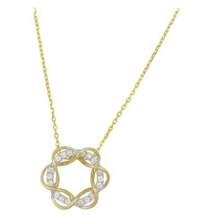 "Frederic Sage 0.28 Diamond ""Entwined Halo"" Pendant with Chain"