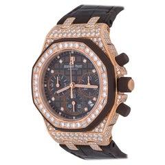 Audemars Piguet Royal Oak Offshore Chronograph in 18 Karat Gold and Diamonds
