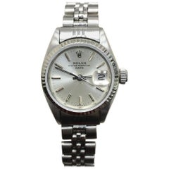 Rolex Ladies Date 6917 Stainless Steel Silver Dial