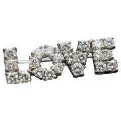 Tiffany & Co. Diamond Love Pin by Donald Claflin