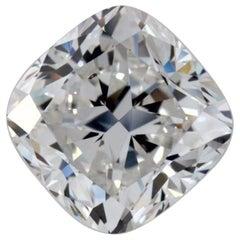 3.05 Carat Cushion Cut Natural Loose Diamond F / SI1 GIA Certified