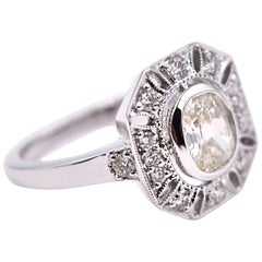 Sethi Couture 1.20 Carat Oval White Diamond Statement Ring in 18 Karat Gold