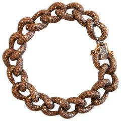 Diamond Sterling Silver Chain Link Bracelet